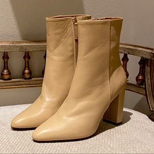 "Sezane ""Adele"" Nude Leather Boots 